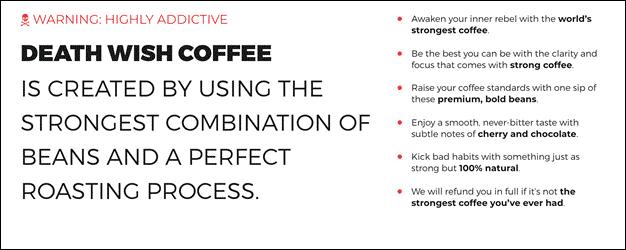 Death Wish Coffee Marketing