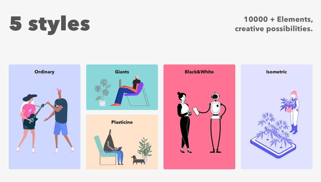 Custom Illustrations Branding