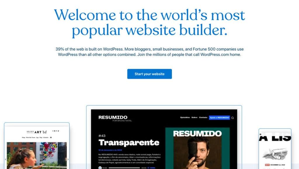 Good Wordpress Landing Page Example
