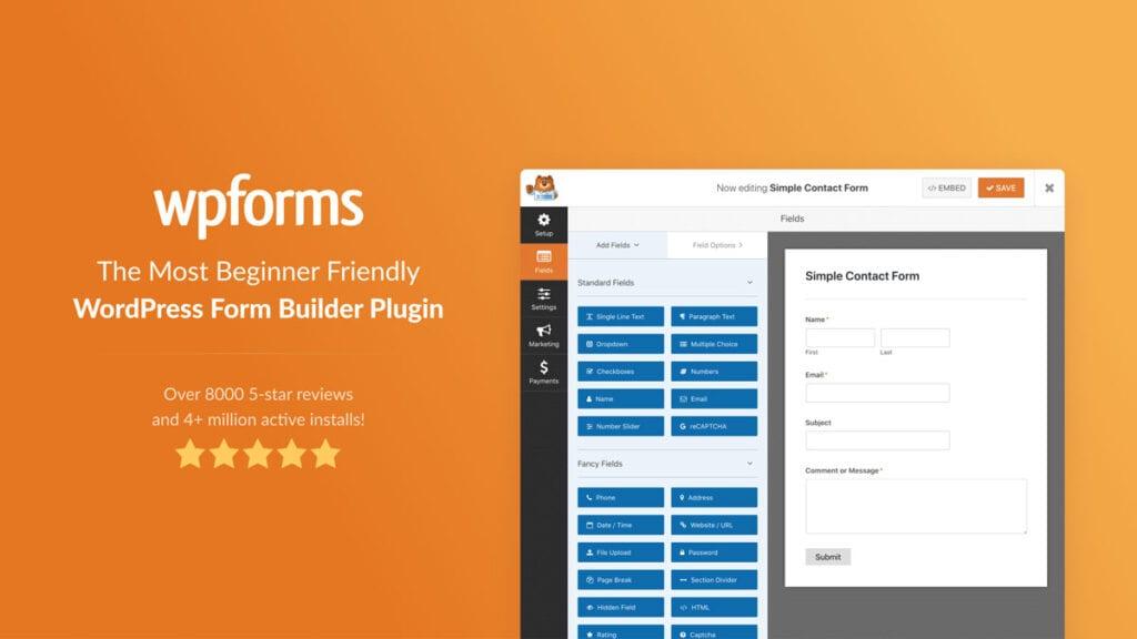 Best Wordpress Plugin Forms Wpforms