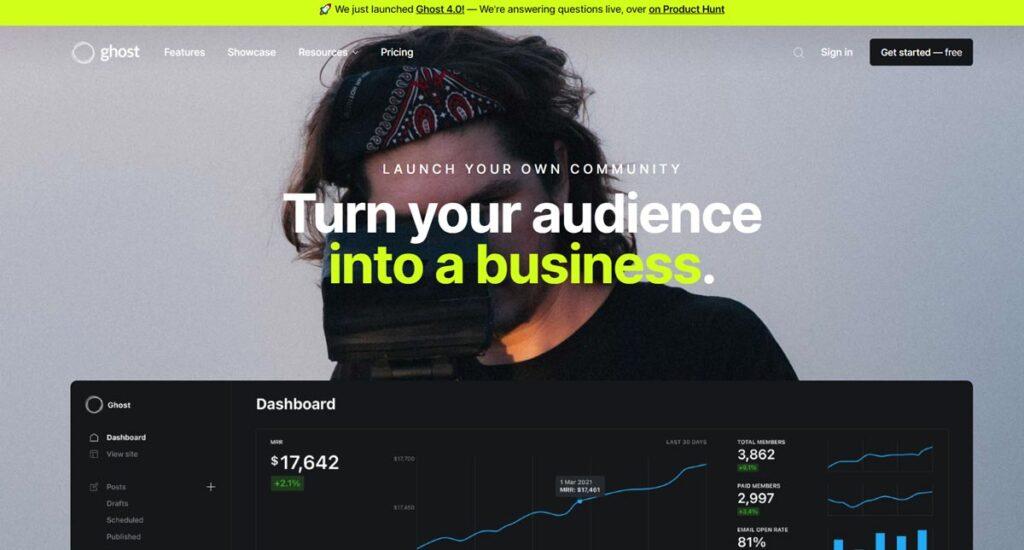 Ghost Website App