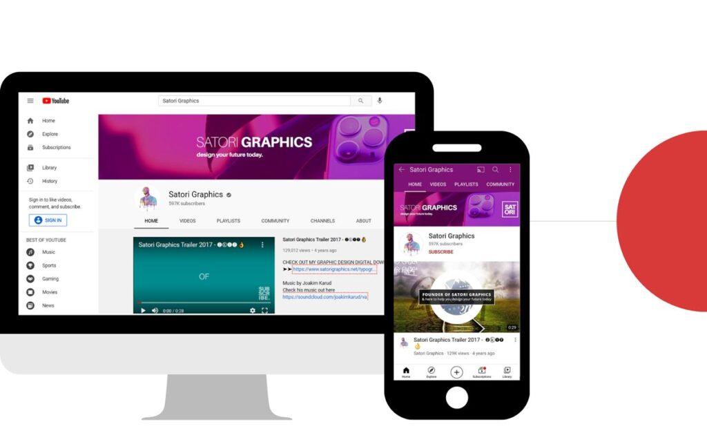 Graphics For Youtube Phone Vs Desktop
