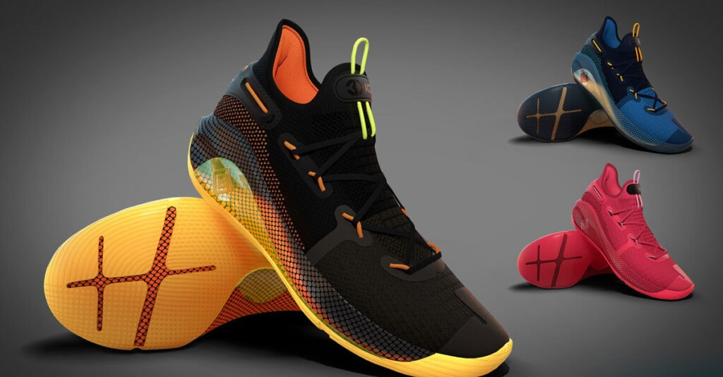 3D Render Of Shoes For Ecommerce