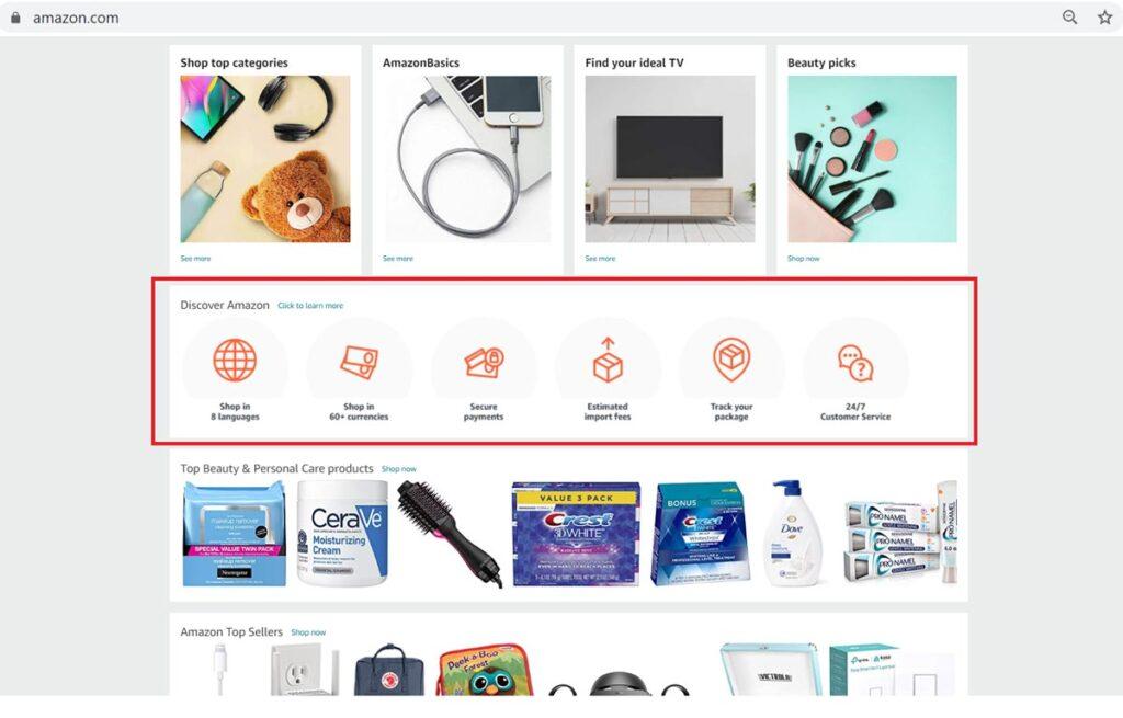 Amazon Icons In Website