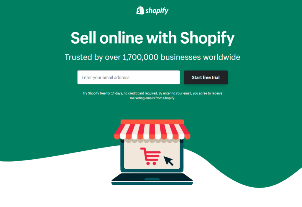 Shopify Signup Page