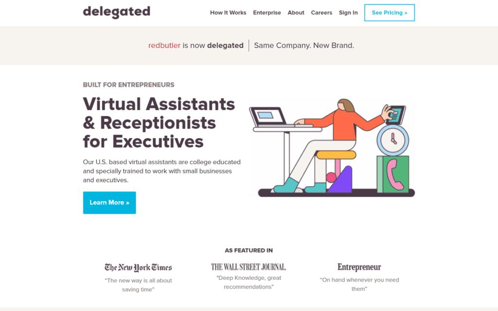 Delegate Virtual Assistant Websites
