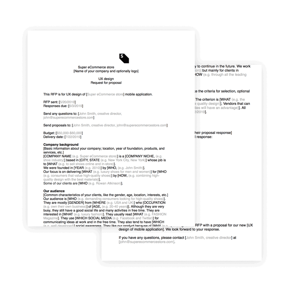 Ux Design Proposal Template Example